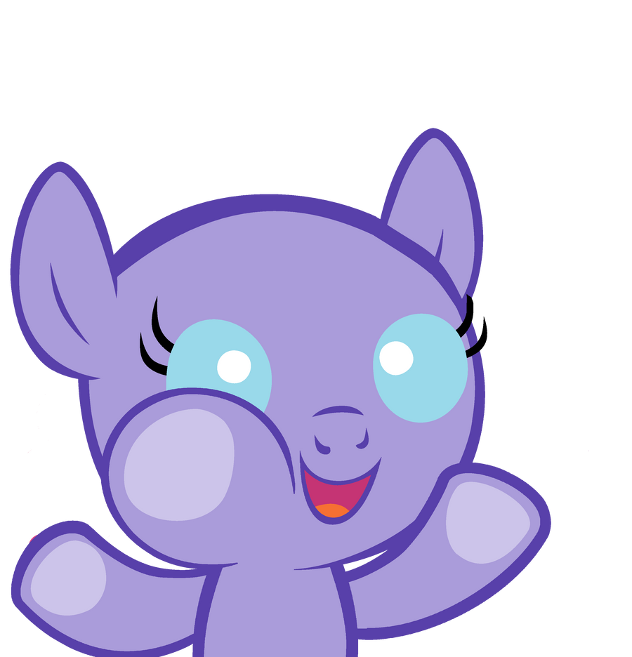 Baby Pony Baby pony base 'let me in!' by