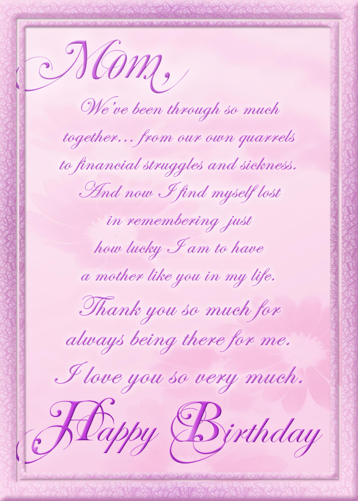 Birthday Card For Mom By Jteddy71 On Deviantart