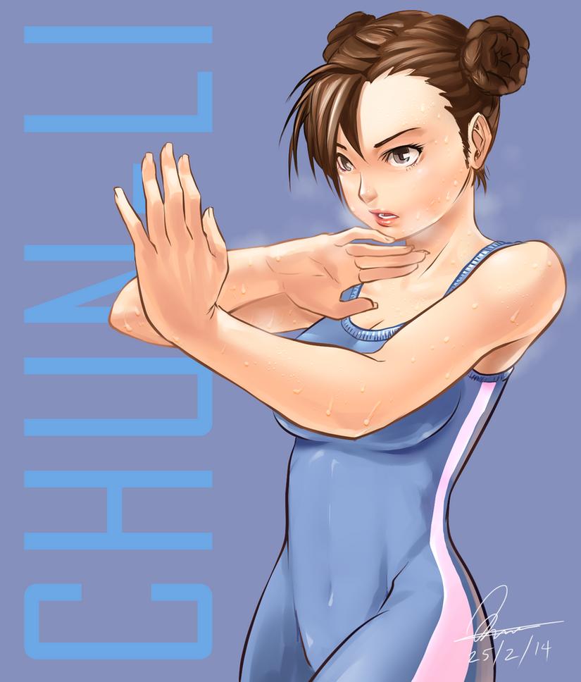 Chun-Li trainnig by Kumsmkii