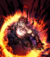 Demon explosion by Kumsmkii