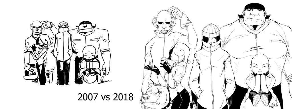 2007 vs 2018  The Gang by Kumsmkii