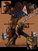 Mang Tataho and Sorbetero Man by MewmewUniverse