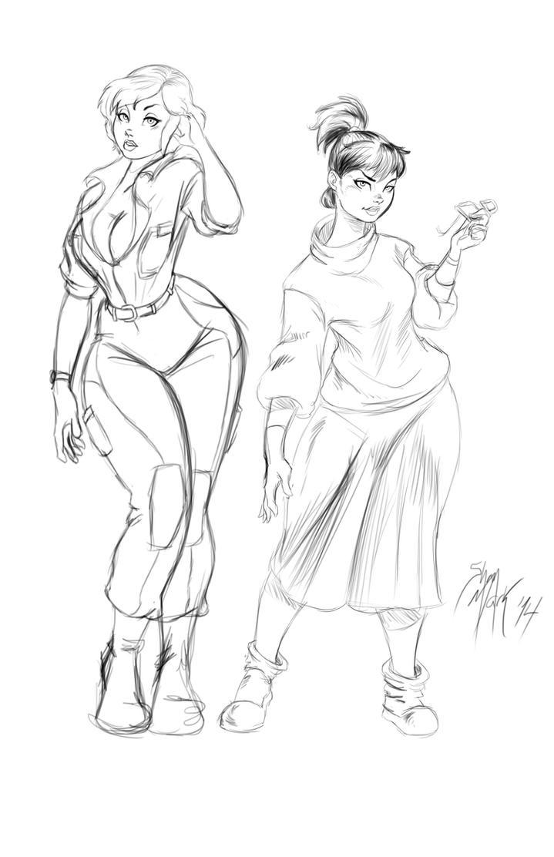April and Irma sketch by Dranos