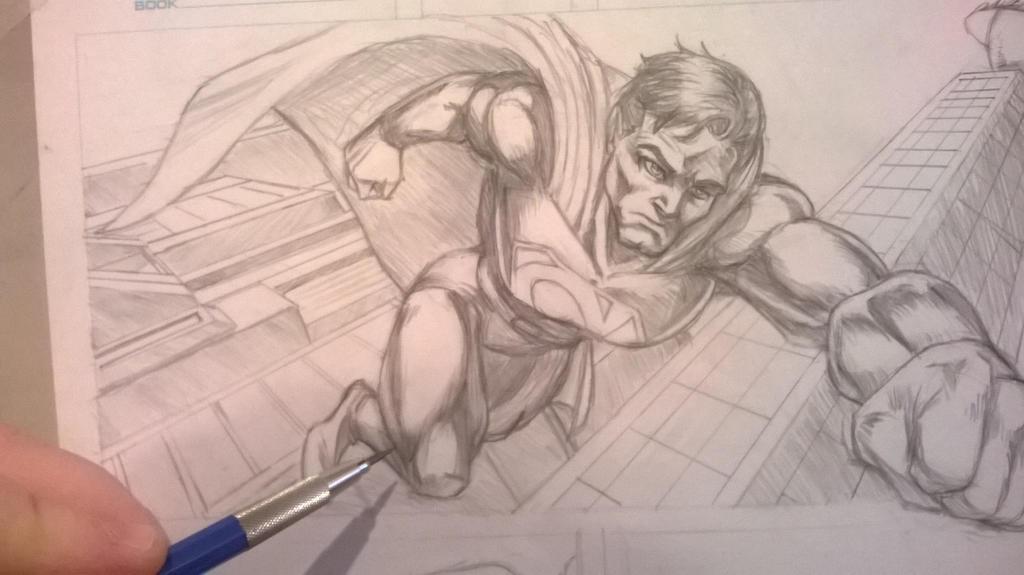 Superman Sketch by Dranos