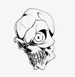 Skull (digital inks) by Dranos