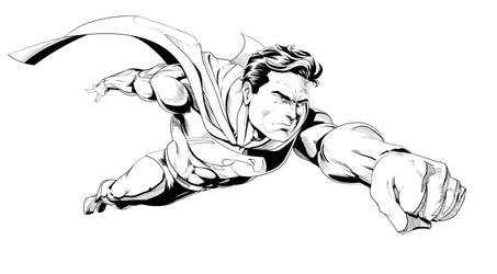 Superman Flaying by Dranos