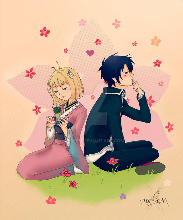 Rin and Shiemi - Ao no Exorcist by Adfvem