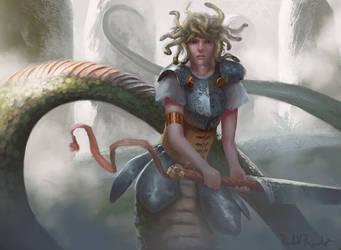 Mhedoria, Greatsword-fencer by Raedrob