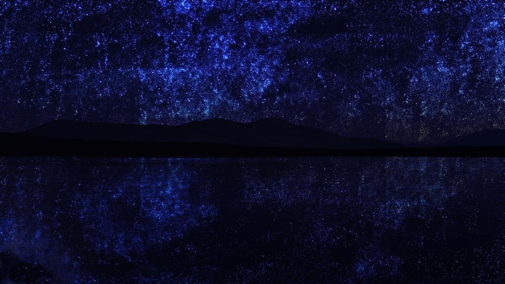 Night lake by VikingStormtrooper