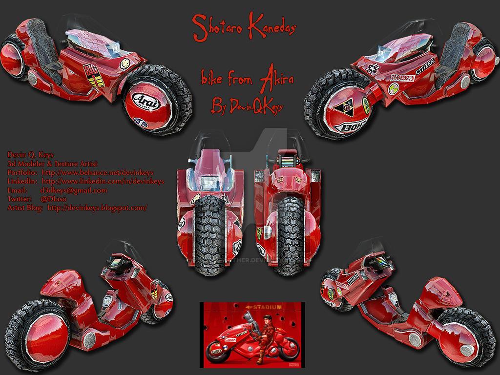 Shotaro Kaneda S Bike From Akira Render 2 By Blakkpanther