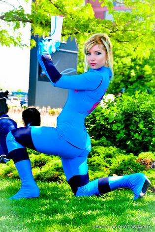Samus Pose by CosplayButterfly