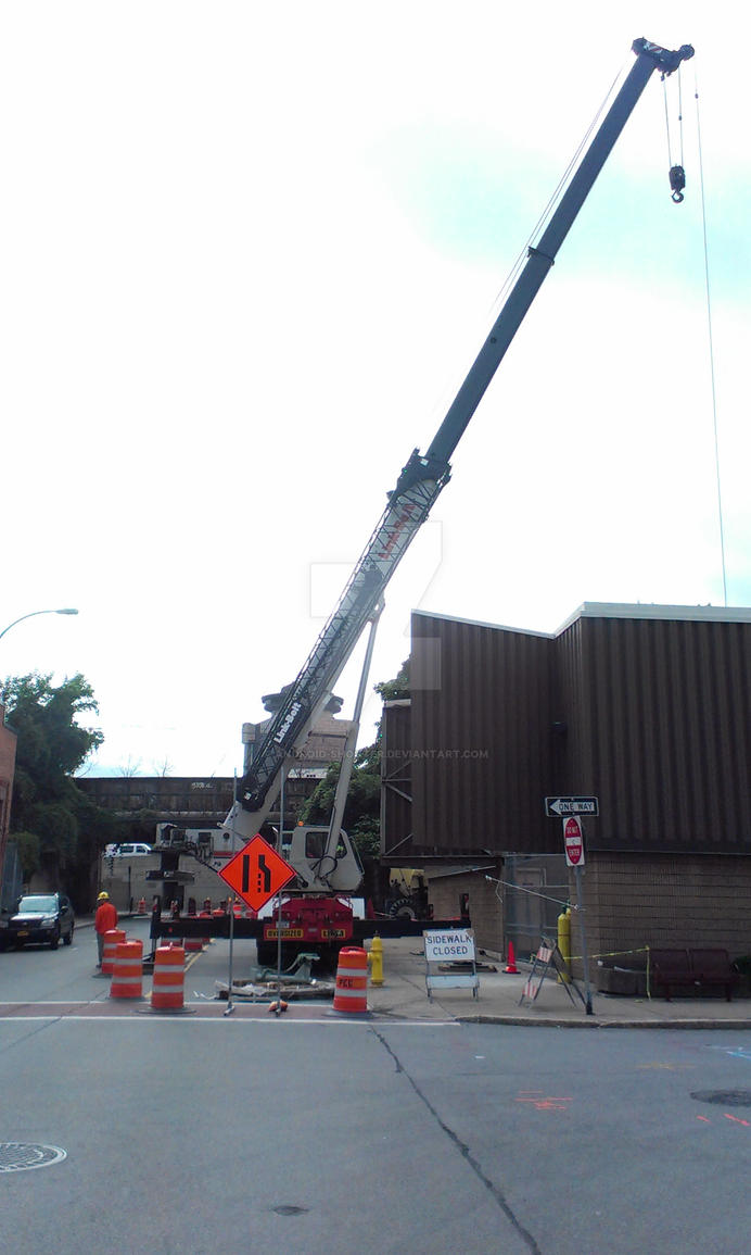 Lift crane at RG and E install by Android-shooter