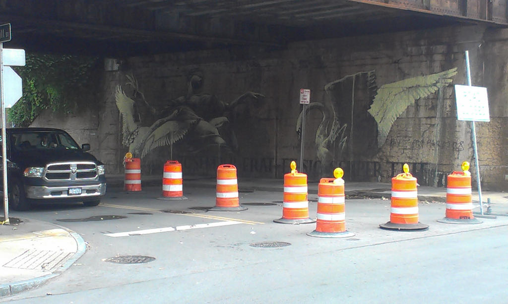 Commercial and Allen st bridge art by Android-shooter