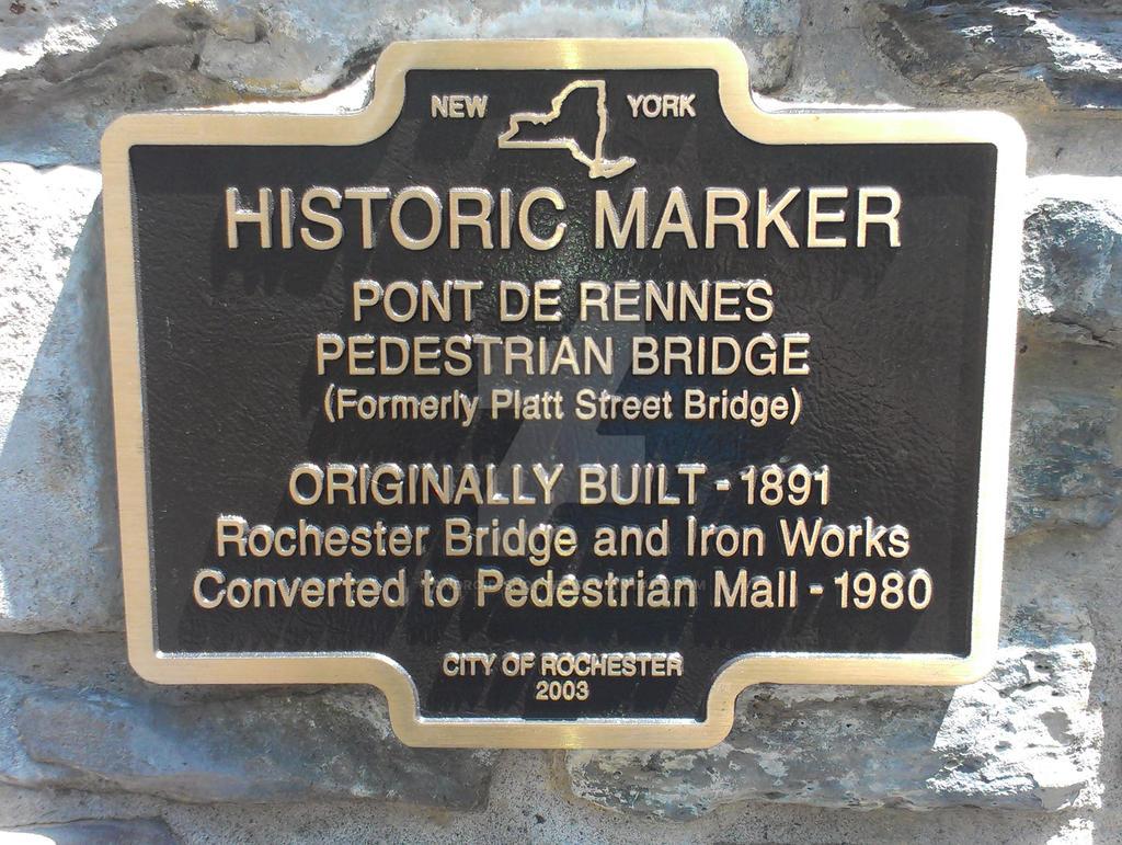 Pont De Rennes Pedestrian Bridge Marker by Android-shooter