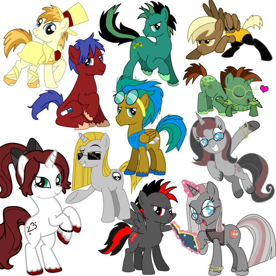 Round Up Of My Little Pony Comissions - 10$ by JuliefooDesigns