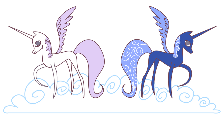 Histoire d'Equestria World My_little_pony_alicorn_celestia_and_luna_by_juliefoodesigns-d5emh29