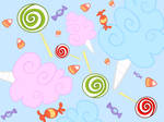 MLP Candy Vectored Wallpaper Commission