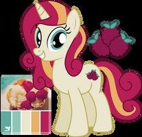 MLP Raspberry Tart Adoptable by JuliefooDesigns