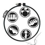 Rock Band Logos Cross stitch pattern