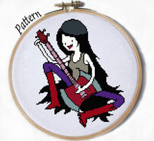 Marceline Sitting cross stitch pattern by JuliefooDesigns