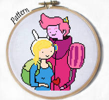 Fionna and Gumball Cross stitch pattern by JuliefooDesigns