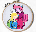 Fionna and Gumball Cross stitch pattern