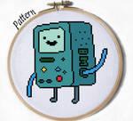 BMO beemo cross stitch pattern