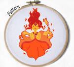Flame Princess Cross stitch pattern