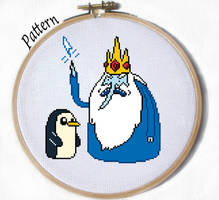 Ice King and Gunter Cross stitch pattern by JuliefooDesigns