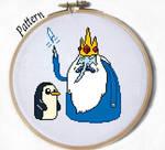 Ice King and Gunter Cross stitch pattern