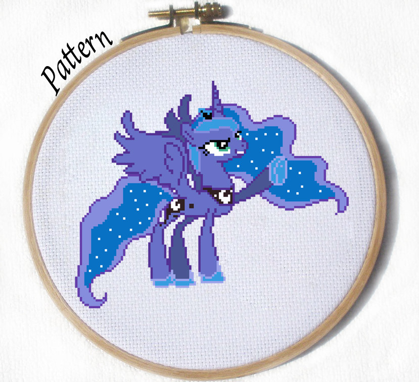 Princess Luna cross stitch pattern by JuliefooDesigns