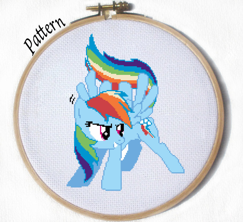 Rainbow Dash Cross stitch pattern by JuliefooDesigns on DeviantArt