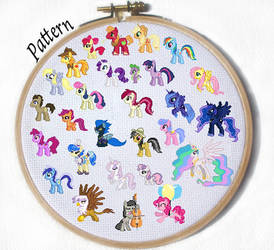 YOU PICK MLP Character Cross Stich Pattern