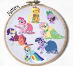 Gala My Little Pony Mane 6 Cross stitch patterns