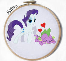 Rarity and Spike cross stitch pattern mlp