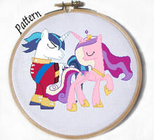 Shining Armor and Cadence cross stitch pattern MLP