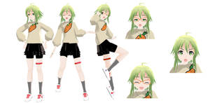 MMD: Casual Gumi +DL by Nekofred