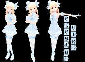 MMD: Elegant Girl by Nekofred