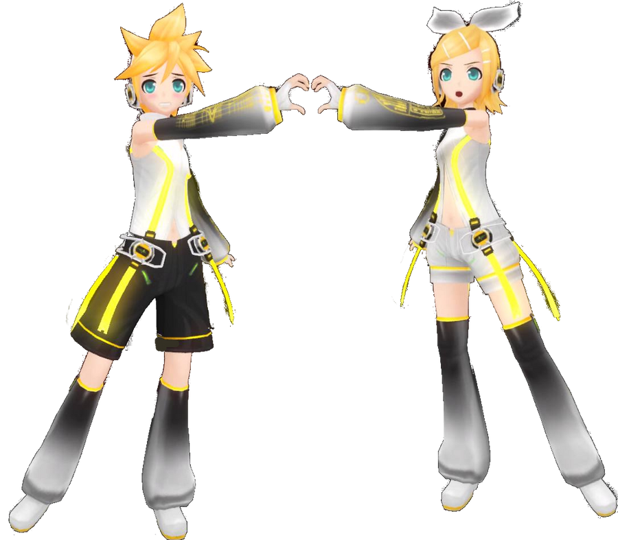 Project diva f rin len append by nekofred on deviantart - Kagamine rin project diva ...