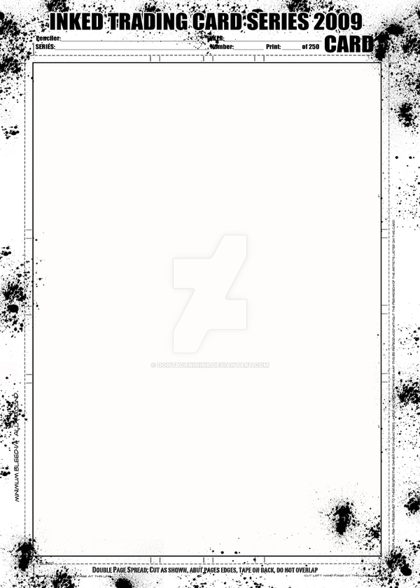 INKED TRADING CARD TEMPLATE by DontBornInInk on DeviantArt