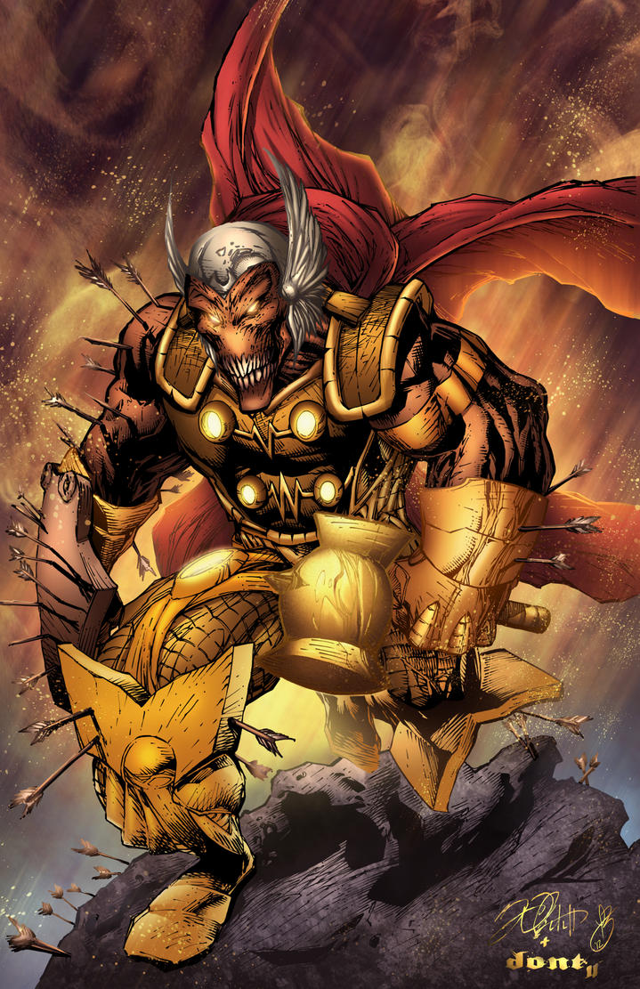 Beta Ray Bill Colors by DontBornInInk
