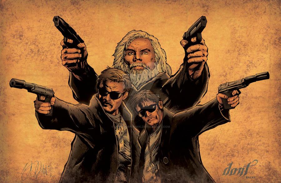 Boondocks wwchicago exclusive by dontborninink on deviantart - Boondock saints cartoon ...