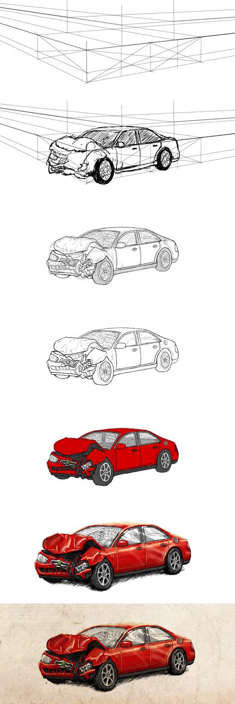 Car Crash Drawing Step-by-Step by yodalr on DeviantArt