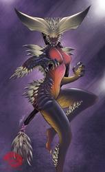 Monster Hunter Girl - Nergigante by SeaGunsLives