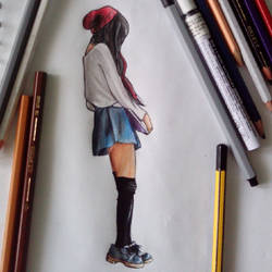 hipster girl! by YunaAoki