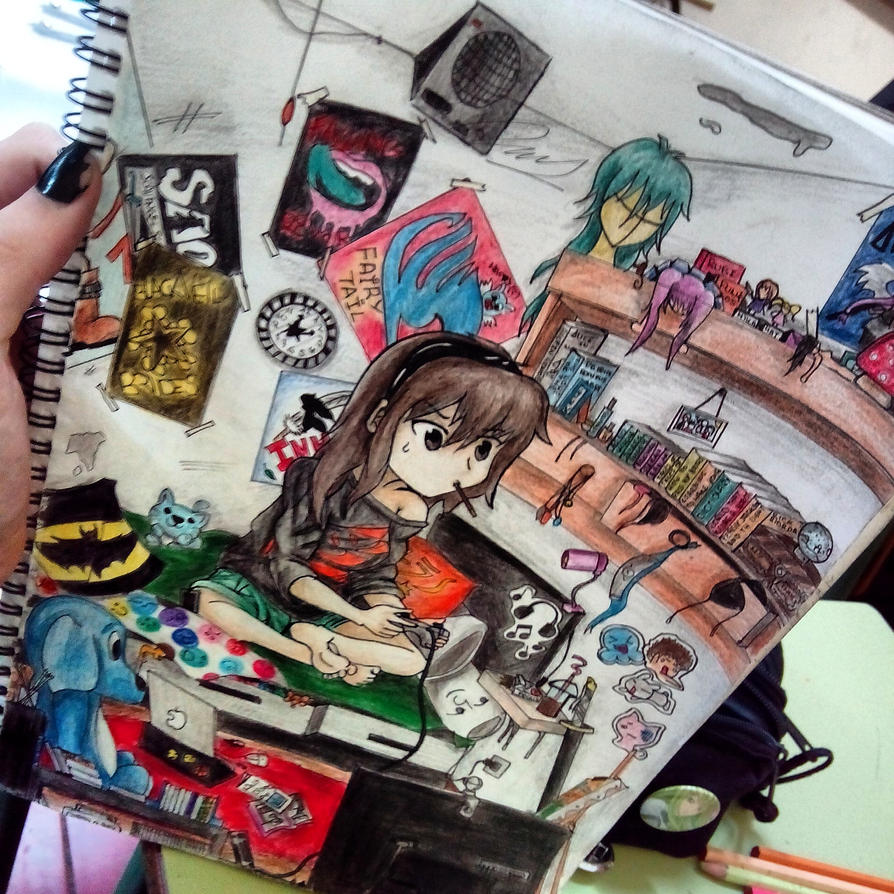 Anime Wallpaper For Bedroom Bedroom Arrangement Pictures Vintage Teenage Bedroom Ideas Hippie Bedroom Decor: Otaku Room By YunaAoki On DeviantArt