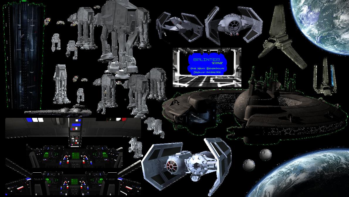Splinter Stock - Star Wars Ships 7083x4000 by deema78