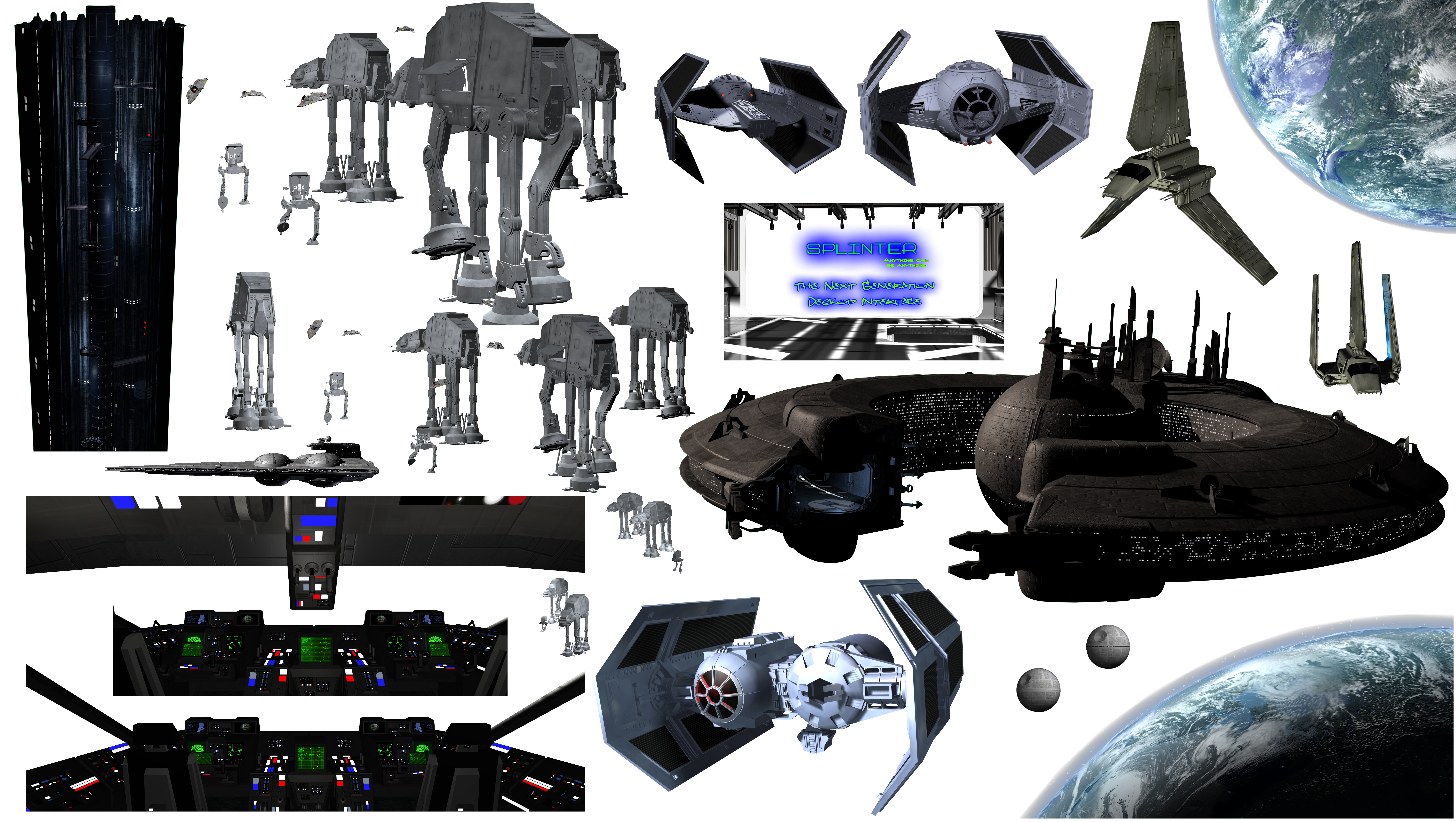 Splinter Stock - Star Wars Ships 7083x4000