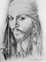 Captain Jack Sparrow Drawing by darrenOhhh