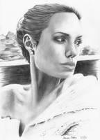 Angelina Jolie Portrait Drawing by darrenOhhh